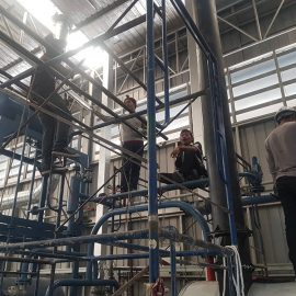 งานติดตั้งระบบหมุนเวียนน้ำมันร้อน